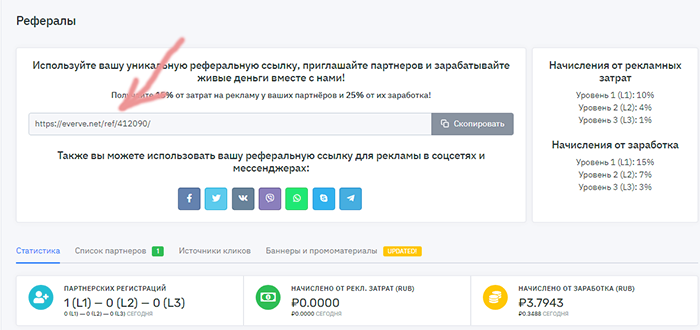 Everve.net-1000 р в месяц заработок на автомате